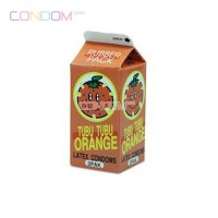 Nakanishi Tubu Tubu Orange Condom  ถุงยางอนามัยแบบบางจากยางสังเคราะห์ ที่บางที่สุดในโลก