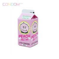 Nakanishi Peach Nectar Condom ถุงยางอนามัยแบบบางจากยางสังเคราะห์ ที่บางที่สุดในโลก