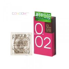 ถุงยางญี่ปุ่น Jex Condoms 0.02 box of 12