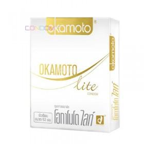 ถุงยางอนามัย Okamoto Lite (บางและยืดหยุ่นสูง)