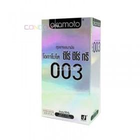 ถุงยางอนามัย Okamoto 003 แพ็ค 10 ชิ้น (แบบและคุ้ม)